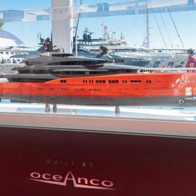 """Display of Oceanco's concept yacht 'Lumen"""""""