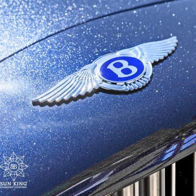 Bentley logo in diamonds